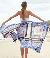 Capri Cotton Wrap – Moroccan Tile