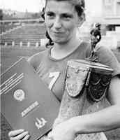 Alexeeva won the European Championship in 1950, 1952, 1954 and 1956
