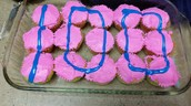 Special 1/2 birthday and 100th day cupcakes!