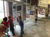 The school district art show