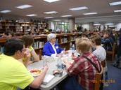 Guest readers, students, food