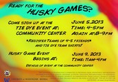 Don't Forget, Husky Games Sports Events!  Coming Sunday, June 9!