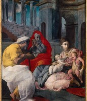 Holy Family with Saint