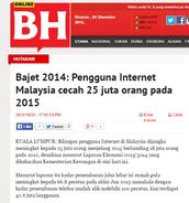 Pengguna Internet di Malaysia dijangka meningkat kepada 25 juta orang menjelang 2015