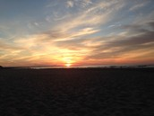 Amazing sunsets on the beach