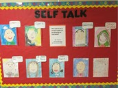 Self Talk SEL Bulletin Board From Ms. Frenzel's Panthers!