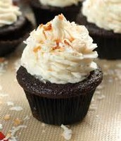 The chocolate coconut cupcake