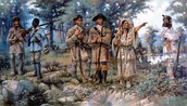 Lewis and Clark with Indian tribe
