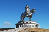 Genghis Khan Statue on a Horse