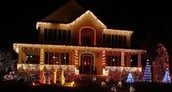 A Decorated Christmas House