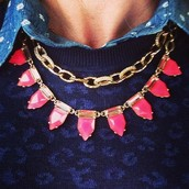 Eye Candy Necklace - Hot Pink regularly $49 NOW $29.40