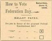 The Federation Day Ballot Paper