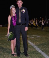 Homecoming King and Queen--John Burch & Madi Tobias