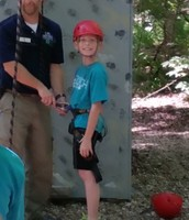 Nick is ready to climb!