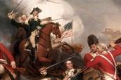 George Washington in a battle .