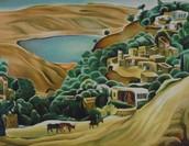 """""""טבריה"""", יצירה מאת נחום גוטמן, 1920"""