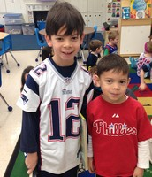 Andrew and his brother Timmy say hi on Buddy Up and Read Day!