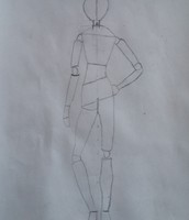 Contrapost houding tekening