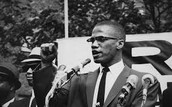 Malcolm X Speaking to His Followers