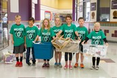 Green Team helping us recycle this week!