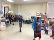 JCS 2nd Graders made recycled hats and had a hat parade to show off their designs to commemorate Earth Day!