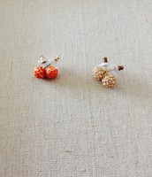 Soiree Studs (coral and gold)