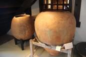 potes de ceramica dos indigenas