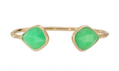 Serenity Stone Cuff - Green and gold - CLAIMED