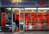 Fui al banco america y cobré un cheque.
