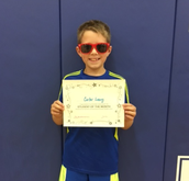 5th Grade Student of the Month for September- Carter