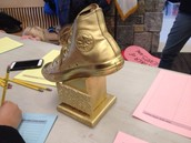 Congratulations Mrs. Giblin's Gr. 1 class for winning the Golden Sneaker this month for the greatest Safe Routes to School participation!