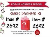 Hostess Pop Up Special!