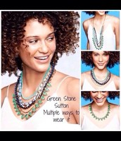 Green stone Sutton necklace - Reg $188 SALE  $85
