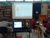 Students used a webquest to assist in locating information on ancient Chinese inventions.