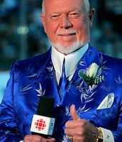 Don Cherry in a blue suit