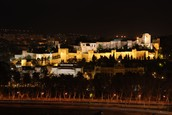 Alcazaba de Málaga por la noche