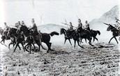 German Uhlans advancing