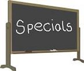 Specials for Next Week: