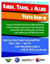 Queer, Trans, Two-Spirit and Allied Youth Drop-in