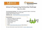 Mercer School of Engineering Scholarship Challenge