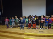 Rehearsing for our spectacular Sing-a-Long!