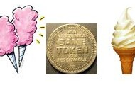 Your choice of ice cream, cotton candy, or some game tokens