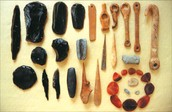 Old stone age tools