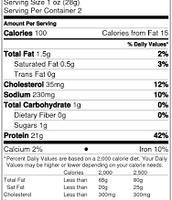 Nutrition facts for beef jerky