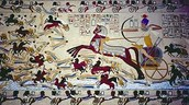 Art about a battle with the Hyksos