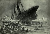 The Titanic in it's final moments