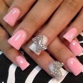 Simple acrylic nails.