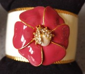 Kelly Cuff - Ivory/Red
