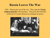 Russia Leaves the War: