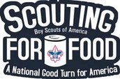 Scouts have food drives for the needy